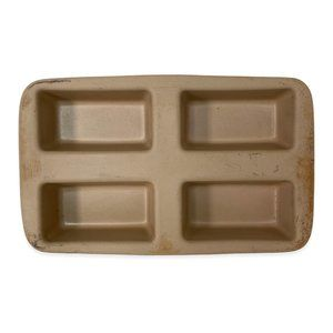 Pampered Chef Stoneware 4 Mini Loaf Bread Pan